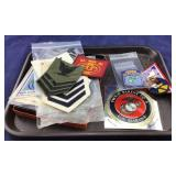 Tray Of Assorted Military Patches And Badges