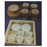 Delicate Oriental Tea Set & Rooster Snack Set
