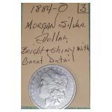 1884-0 Morgan Silver Dollar