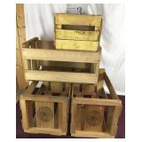 Three Wood Wine Crates, Orchard Crate