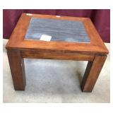 Contemporary Slate Top Side Table