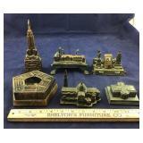Six Cast Iron Souvenir Buildings/Banks