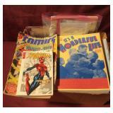 Box With Assorted Books, Magazines, Comics. Plus
