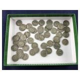 About 50 Indian Head Nickels- Most Have Dates