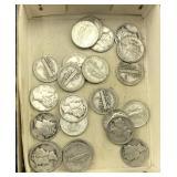 About 25 Mercury Dimes