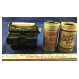 Two Antique Thomas Edison Record Holders Plus