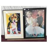 Marilyn Agamograph and Otis Burns Puppy Poster
