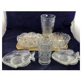 Glass Fish Dishes & Crystal Vases & Bowls