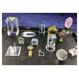 Lot of Small Decorative Glass Crystal Items