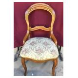 Vintage Walnut Parlor Chair