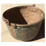 Super Size Antique Apple Butter Copper Cauldron