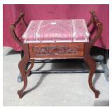 Antique Mahogany Vanity Stool