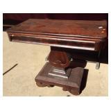 Antique Empire Mahogany Game Table