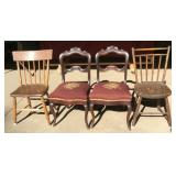 Four Assorted Antique Chairs