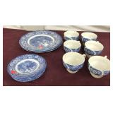 Liberty Blue English Dishes 14 pieces