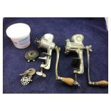Pair of Vntg Climax & Griswold Meat/Food Grinders