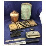 Copper Ware & Metal Ware & Slaw Cutter