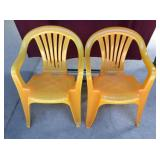 Pair Of Plastic Chairs