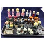 Large Selection Of Ornate Salt & Peppers
