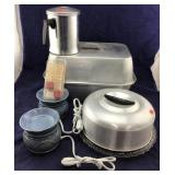 Aluminum Roaster & Cake Plate/Cover & Wax Melters