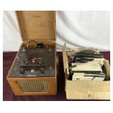 Vintage Silvertone Reel to Reel With Box of Tapes