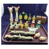 Assortment Of Various Size Salt & Peppers