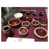 Brown Drip Glaze Accessory Tableware Pieces