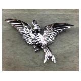 Unusual Vintage Bird Pin by Glamour