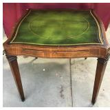 Vintage Leather Top Game Table, With Pads,