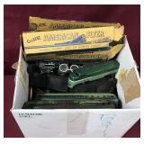Box Of Vintage Train Parts
