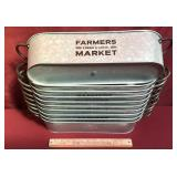 Ten New Galvanized Long Containers With Handles