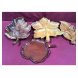Four Imported Wooden Serving Dishes, Some
