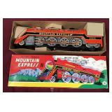 Vintage Train Toy, New in Box Mountain Express II