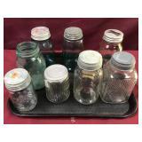 Antique Jars, Mason, Presto, Kitchen Eight Pieces