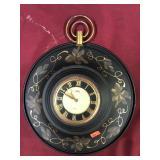 Vintage Alba Rand Kitchen Clock, Tole Design