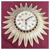 Vintage Mid Century Clock, by Syroco