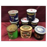 Eight Tobacco Tins, Some Never Opened, Some
