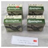 Four boxes, 100 rounds, Remington 12 gauge