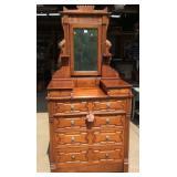 Antique walnut Eastlake Mirrored Dresser