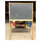 Large Vintage Oak School Room Chalkboard