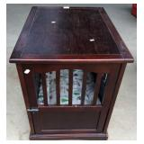 Contemporary Animal Crate End Table