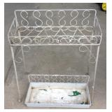 Vintage Wire Metal Plant Stand