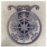 Ornate Metal Hanging Hose Reel