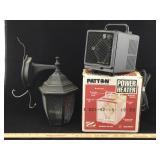 Old Outdoor Light & Patton Power Heater
