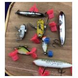 7  Vintage Heddon Fishing Lures
