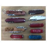 Lot of 9 Pocket Knives