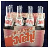 Nehi Cardboard Carton and 8 16 Oz Bottles