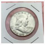 1954 Franklin Silver Half Dollar