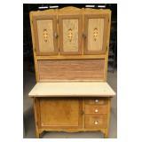 Vintage Hoosier Style Enamel Top Cabinet