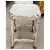 Vintage metal shop stool